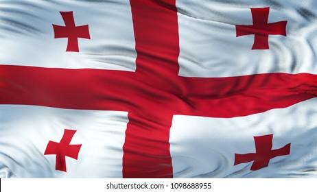 GEORGIA Realistic Waving Flag Background