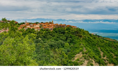 Georgia, Signagi city view in Spring