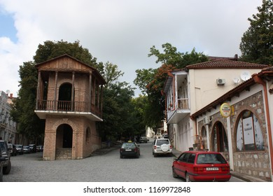 Georgia, Signagi (Sighnaghi). 08.28.2015. Streets of center of medieval town Signagi (Sighnaghi), Kakheti region.