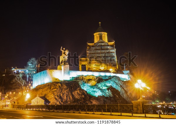 Christmas In Georgia Tbilisi.Georgia Tbilisi Christmas New 2018 Year Stock Photo Edit