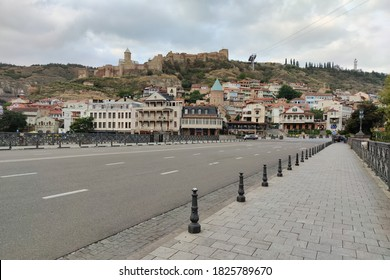 GEORGIA, TBILISI - SEPTEMBER 25, 2020: Tbilisi, old town. Tbilisi old streets and houses