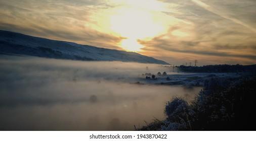 Georgia. Tsalka hiway. sunset in Georgia