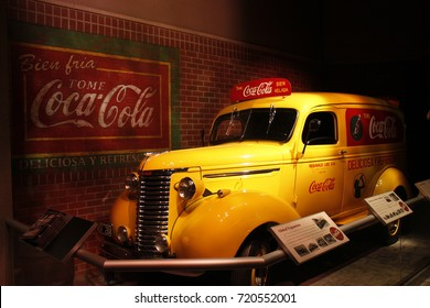 Georgia, USA - 1939 Coca-Cola Chevrolet delivery truck in Atlanta.