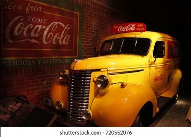Georgia, USA - 1939 Coca-Cola Chevrolet delivery truck in Atlanta.