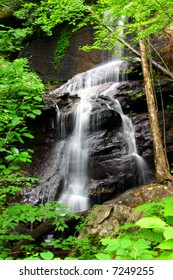 Georgia waterfall in summer