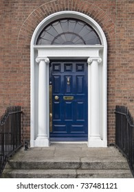 GEORGIAN BLUE DOOR - DUBLIN, IRELAND