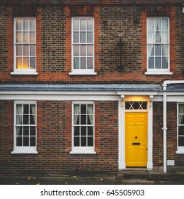 Georgian house facade in London.