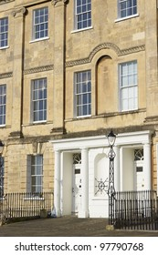 Georgian houses of Landsdown Crescent in the historic city of Bath in Somerset, England