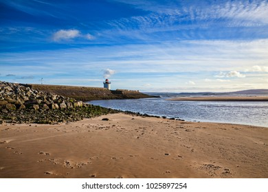 Georgian Lighthouse at Burry Port, Carmarthenshire, Wales, near the Gower Peninsula at the Loughor Estuary