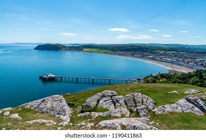The Georgian seaside resort of Llandudno, Wales from Great Orme Country Park