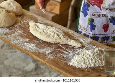 Georgian specialties: Chinkali and Shotis Puri