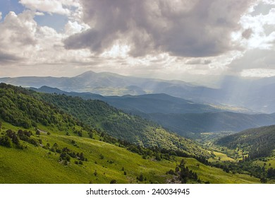 Georgian sunny hills - Shutterstock ID 240034945
