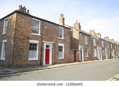 Georgian terraced street, York, UK