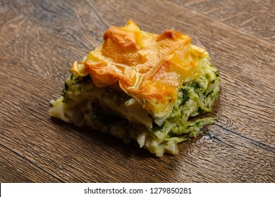 Georgian traditional Achma pie with cheese - Shutterstock ID 1279850281