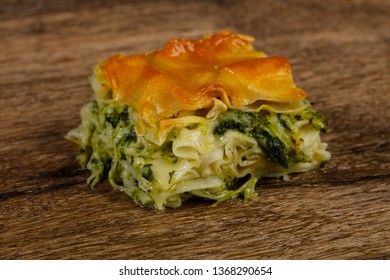 Georgian traditional Achma pie with cheese - Shutterstock ID 1368290654