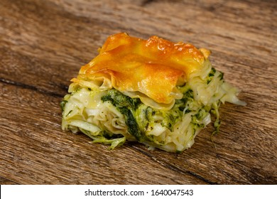 Georgian traditional Achma pie with cheese - Shutterstock ID 1640047543
