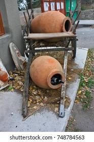 Georgian traditional Kvevri jugs for wine