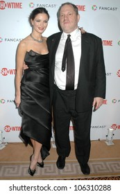 Georgina Chapman and Harvey Weinstein  at the Showtime Golden Globe Awards After Party. The Peninsula Hotel, Beverly Hills, CA. 01-11-09