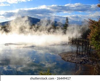 Geothermal activity in Kuirau Park, Rotorua, New Zealand