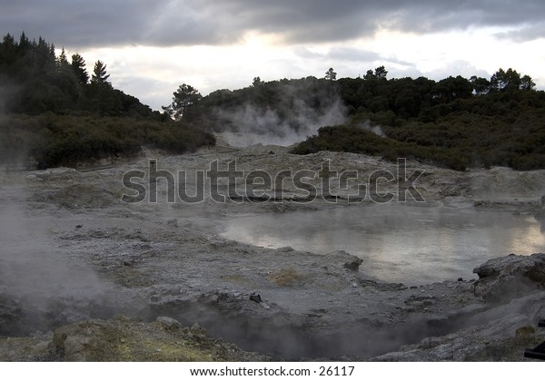 Geothermal activity in New Zealand's Hell's Gate