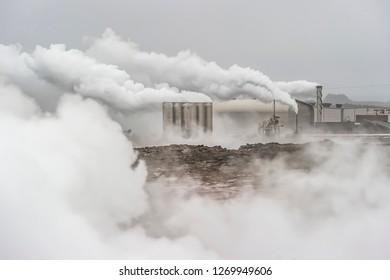 Geothermal energy generation on iceland