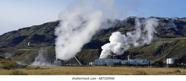 Geothermal energy plant, Iceland . September 2016. For editorial use only