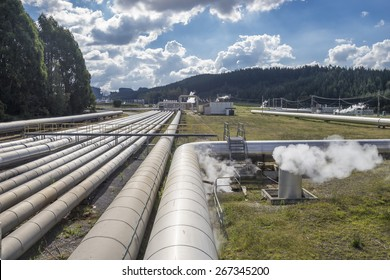 Geothermal power Station,  near Taupo New Zealand
