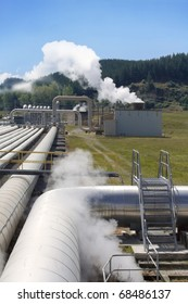 Geothermal power station pipeline perspective