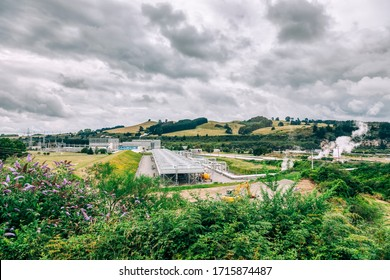 Geothermal Power Station in Wairakei, New Zealand.