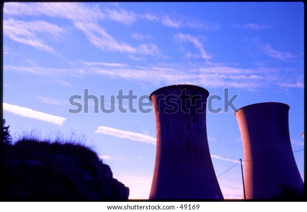 Geothermic cooling towers
