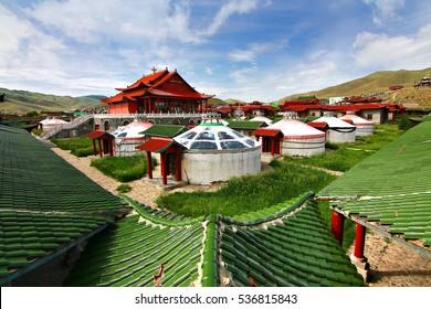 The ger camp at Ulaanbaatar , Mongolia