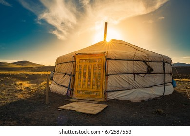 """GER"" Mongolia accommodation."