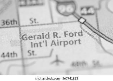 Gerald R. Ford International Airport. Michigan. USA