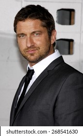 Gerard Butler at the Los Angeles premiere of 'Love Happens' held at the Mann's Village Theatre in Westwood on September 15, 2009.