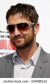 """Gerard Butler at the Los Angeles Premiere of """"How To Train Your Dragon"""" held at the Gibson Amphitheater in Universal Studios, California, United States on March 21, 2010."""