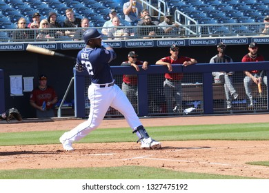 Gerardo Reyes pitcher for the San Diego Padres at Peoria Sports Complex in Peoria,AZ/USA Feb.24,2019.