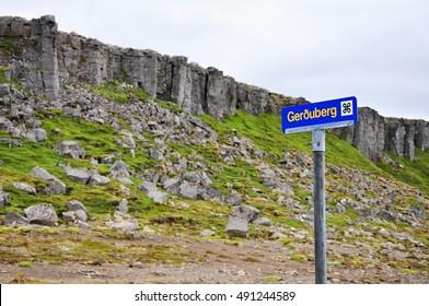 Gerduberg basalt columns - Iceland