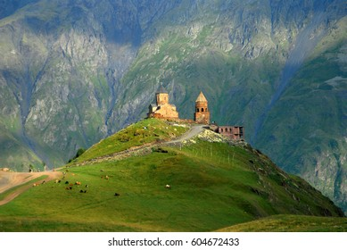 Gergeti monastery. 14 september 2012. Georgia. Europe
