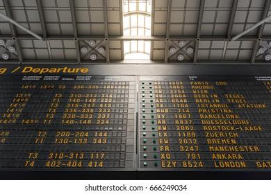 German Airport Abflug Departures TImetable Schedule Sign Information