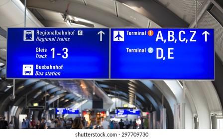 german airport sign