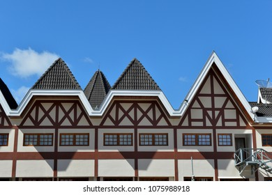 German architecture of the city of Campos do Jordao in the neighborhood of Capivari
