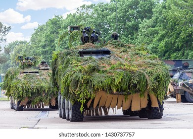 German army infantry fighting vehicle fully camouflaged