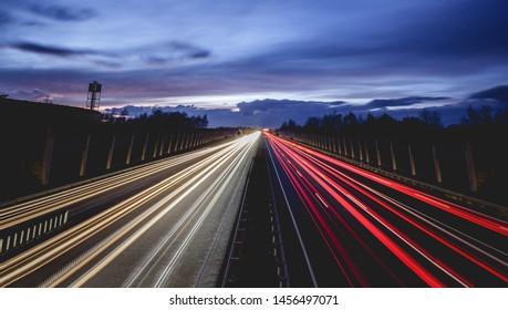 German Autobahn - great long exposure