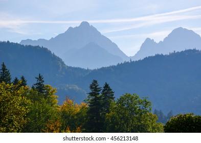 German autumn in mountains