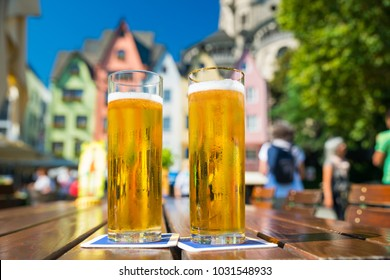 German Kölsch Beer in Cologne