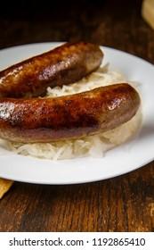 BRATWURST BANNER SIGN brats beer sauerkraut sandwich bun wisconsin eat