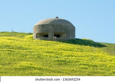 German bunker in Sicily, near Gela