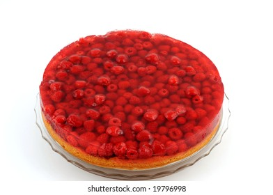German cake with raspberries from the house garden