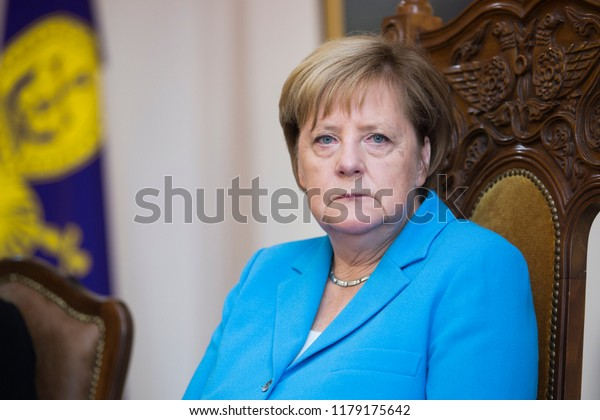 German Chancellor Angela Merkel during a meeting with the Catholicos of All Armenians Garegin II. Echmiadzin, Armenia. August 25, 2018. Photos / Grigor Yepremyan