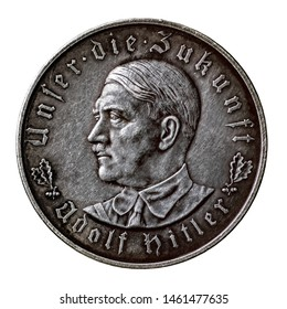 "German commemorative medal of 1933, dedicated to the coming to power of Adolf Hitler. Obverse. Inscriptions: ""Unfer the future""."